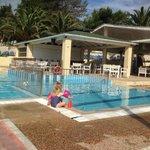 Poppy in the children's pool
