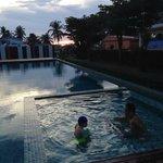 Swimming around 5pm.