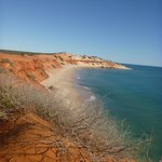 Peron Peninsula showing the red desert sand meeting the ocean. A pristine and spectacular area.