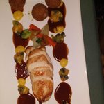Marquez filled Chicken Breast with Green fig and Saltfish balls