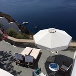 Our balcony at Nostos - fantastic