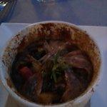 Secondo: cocotte di pesce azzurro con ratatuille e mozzarella di bufala filante