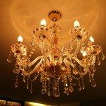 chandelier in bedroom
