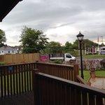 Lodge area located at main entrance next to maintenance yard, very noisy!