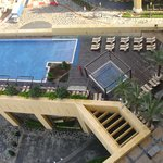 View of swimming pool from our room