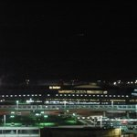 View of airport from twin share room