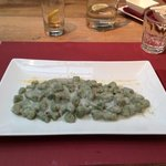 Green Gnocchi with bleu