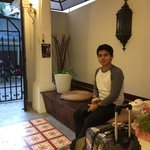 Main gate, the lobby and my hubby.. ��