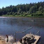 Beautiful river in Ozolkalns
