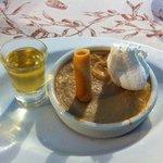 dessert  crème de châtaigne et sa liqueur