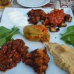 mezze plate - mouth watering !