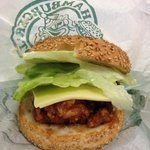 The rightfully popular Chinese chicken burger