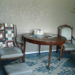 Table and chairs in family room