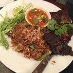 Plato de ternera y arroz