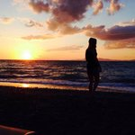 Sunset on private beach