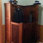 Interior of the police cabin