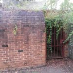 The jail cell in the backyard of the police cottage