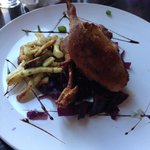Kaczka-roast duck with red cabbage and dumplings £15.50