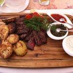 Мясо+печеный картофель