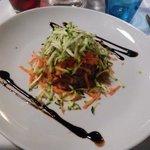 tartare di tonno e julienne di verdure