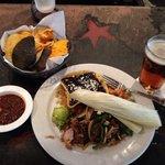 Chips & Salsa, Pork Carnitas, & Beer