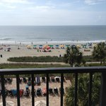 View from our oceanfront suite
