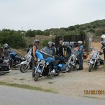 Main Entrance Gate with group of French Bikers