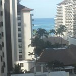 View from room at Waikiki Beach through other bldgs.