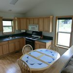 Kitchen of Cabin 13 - a 2-bedroom unit