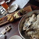 Appetizers: Oysters and Cheese Plate