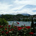 Views from the Botanical gardens in Spiez.