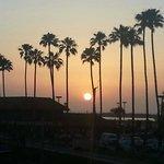 Ventura Harbor at sunset