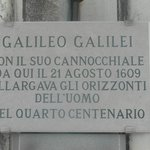La targa a Galileo