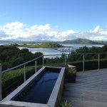 View looking down to Craobh Haven harbour from the hot tub