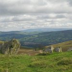 View from one of our recommended walks high above Rhayader
