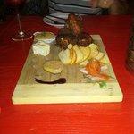 Riopelle cheese, foie gras, cornish hen, trout gravlax