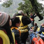 Small boat tour! and guide explaining on the plants..