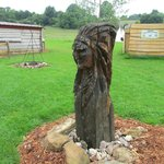 Statue amérindienne
