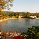 The main beach/bay area