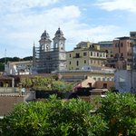 View from the roof terrace of the Cupolone Suite to the Spanish Steps