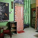 Les portes des chambres avec salon
