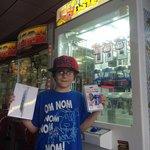 He won an Apple iPad Mini