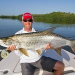 Strip strike charters! 40 LB Tarpon on the second cast of the day!