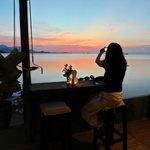 le plus beau coucher de soleil sur la mer à Samui ...
