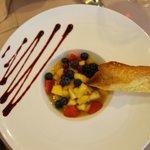 """salade de fruits et excellente tuie """"maison"""""""