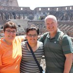 Our family in Rome, we toured with two other couples.
