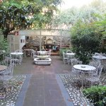 Enclosed Courtyard with covered area