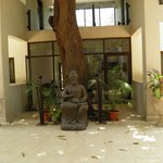 The Buddha signifies the Zen like feeling of the place