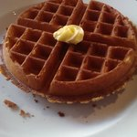 Waffle (yes it was way too big)