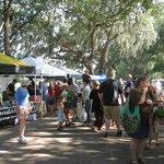 Farmers' Market at Forsyth Park on Saturday mornings